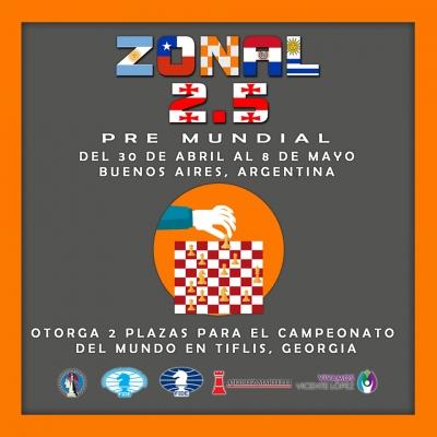 El 30 de Abril comienza el Zonal Absoluto 2.5 en Ajedrez Martelli